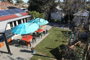 Backyard at Stay Social Bendigo Accomodation